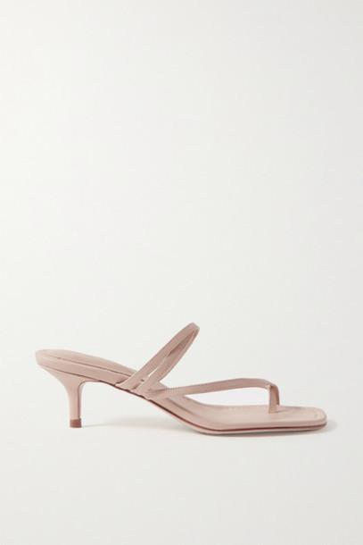 Porte & Paire - Leather Sandals - Beige