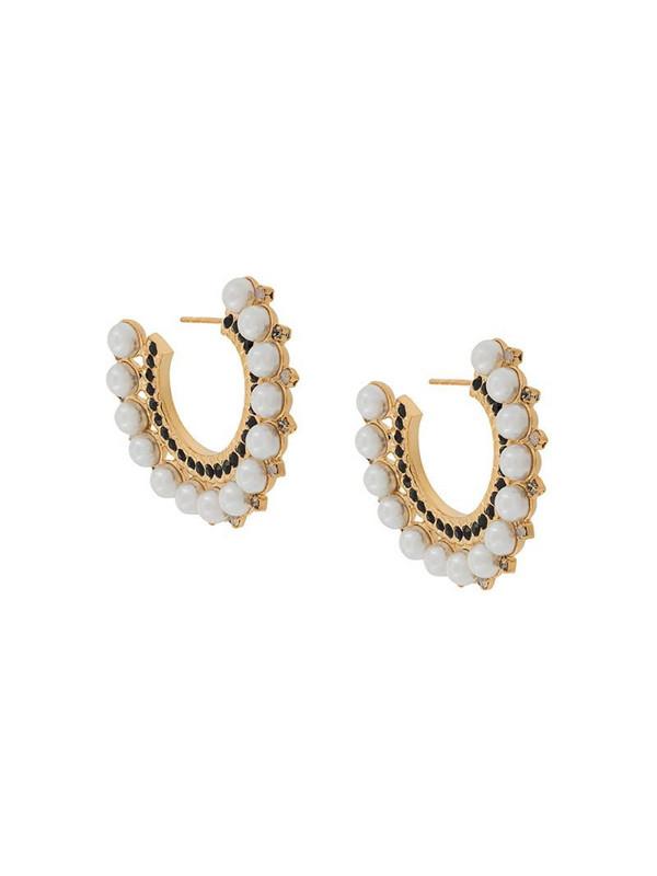 Erdem cluster hoop earrings in gold
