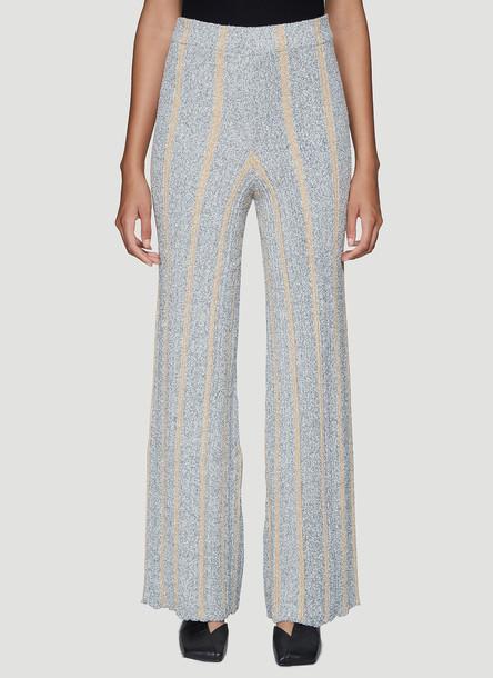 Jil Sander Ribbed Knitted Pants in Grey size DE - 38