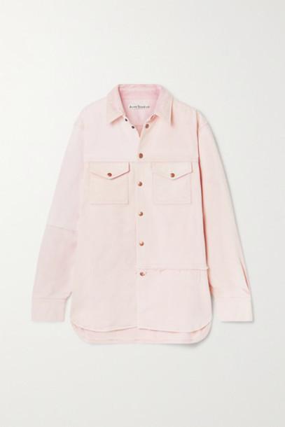 Acne Studios - Net Sustain Oversized Organic Denim Jacket - Pastel pink