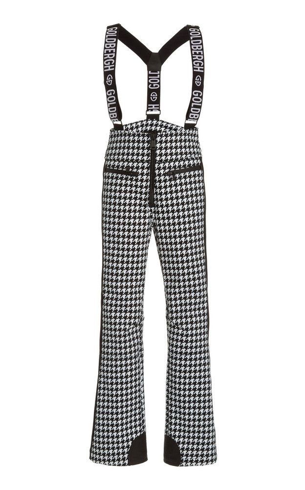 Goldbergh Lily Houndstooth Shell Ski Pants in black