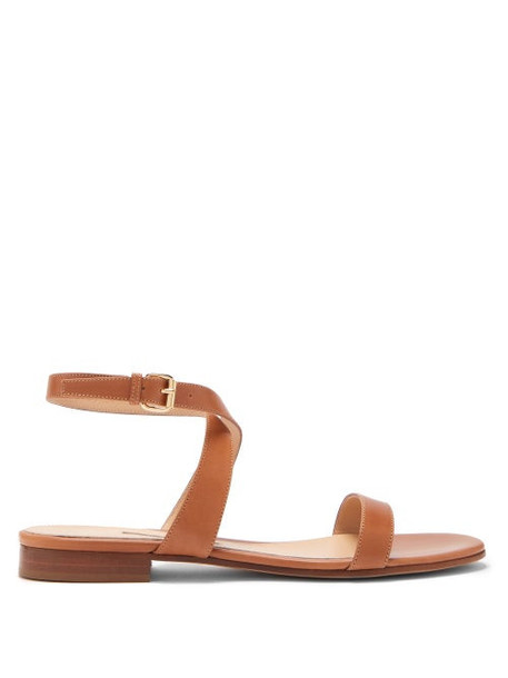 Emme Parsons - Siena Ankle Strap Leather Sandals - Womens - Tan