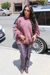 sweater,kim kardashian,kardashians,celebrity,pants,sweatshirt