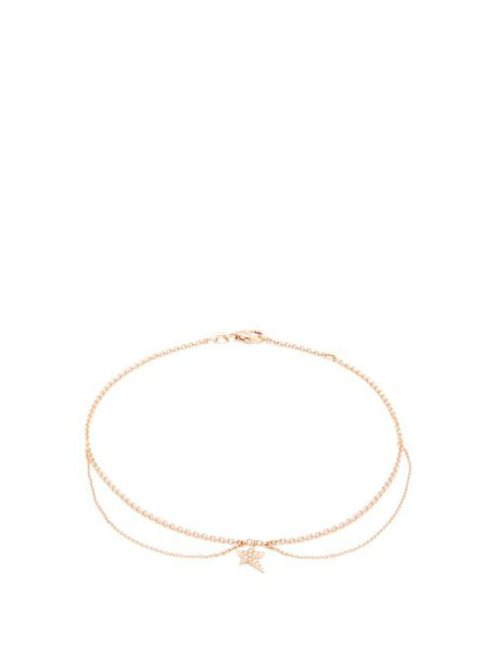 Diane Kordas - Star Charm Diamond & Rose Gold Anklet - Womens - Gold