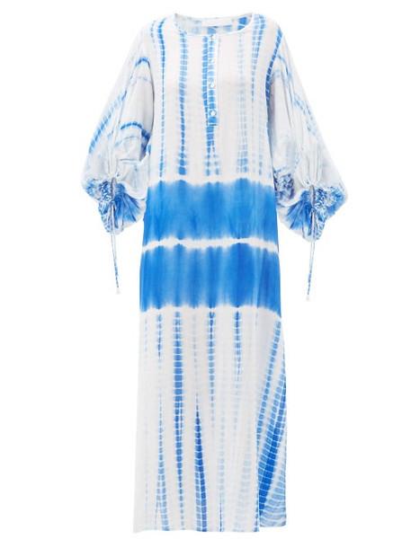 Love Binetti - Good Vibrations Tie-dye Cotton Tunic - Womens - Blue Print