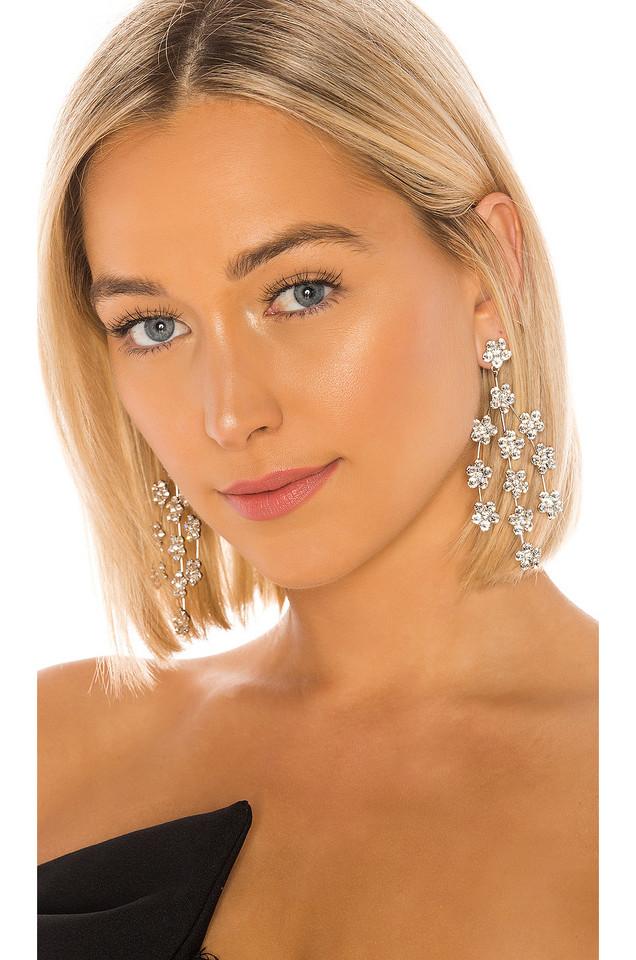 Jennifer Behr Valentina Chandelier Earrings in metallic / silver