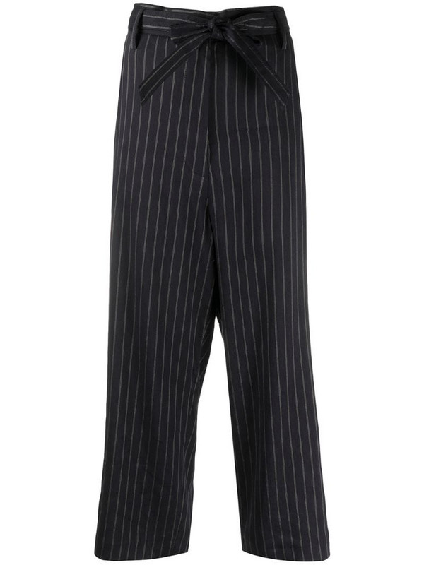 Barena pin stripe cropped trousers in blue