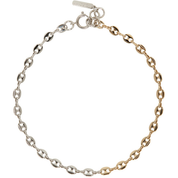 Justine Clenquet Gold & Silver Bicolor Choker