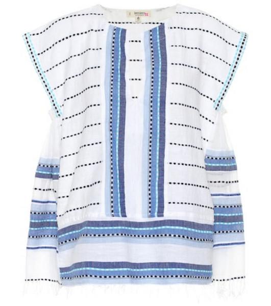 Lemlem Welela cotton-blend blouse in white