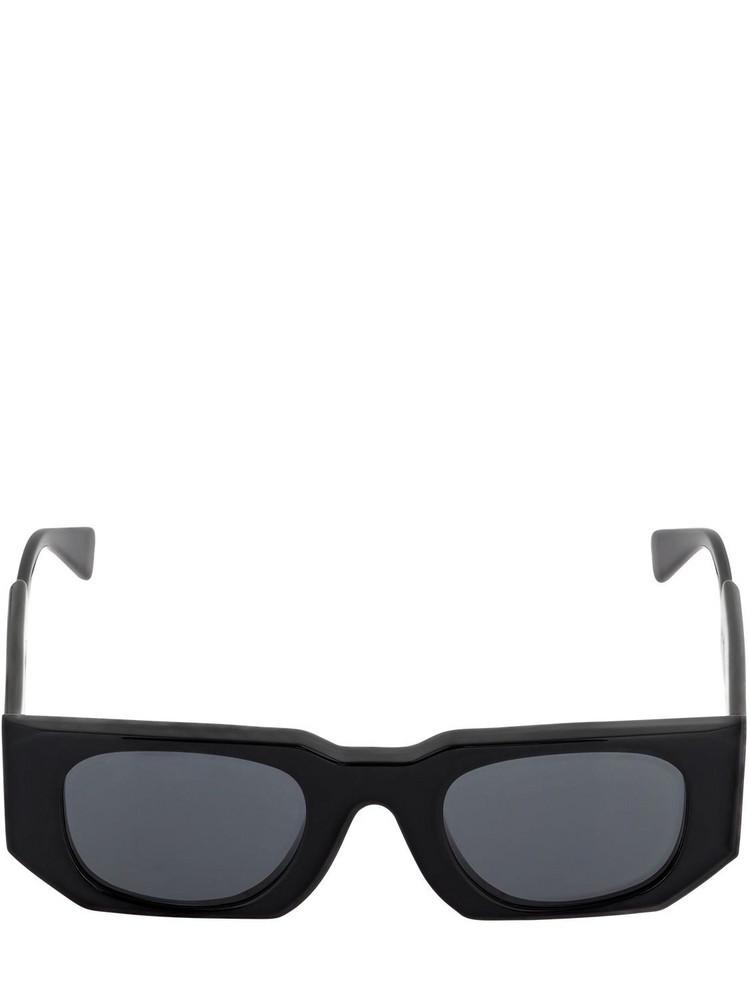 KUBORAUM BERLIN U8 Squared Shiny Acetate Sunglasses in black
