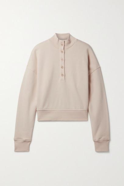 Reformation - Marla Organic Cotton-jersey Sweatshirt - Beige