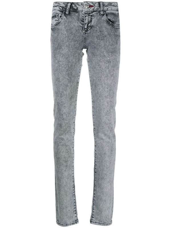 Philipp Plein mid-rise skinny jeans in grey