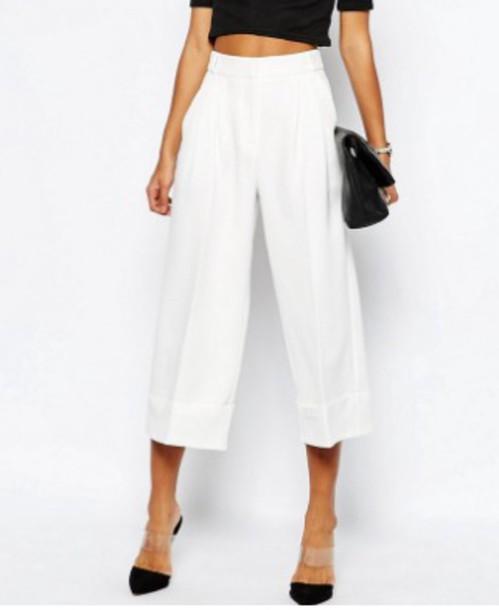 pants culottes asos white pants white culottes
