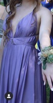 dress,prom dress,chiffon prom dress,light purple prom dress