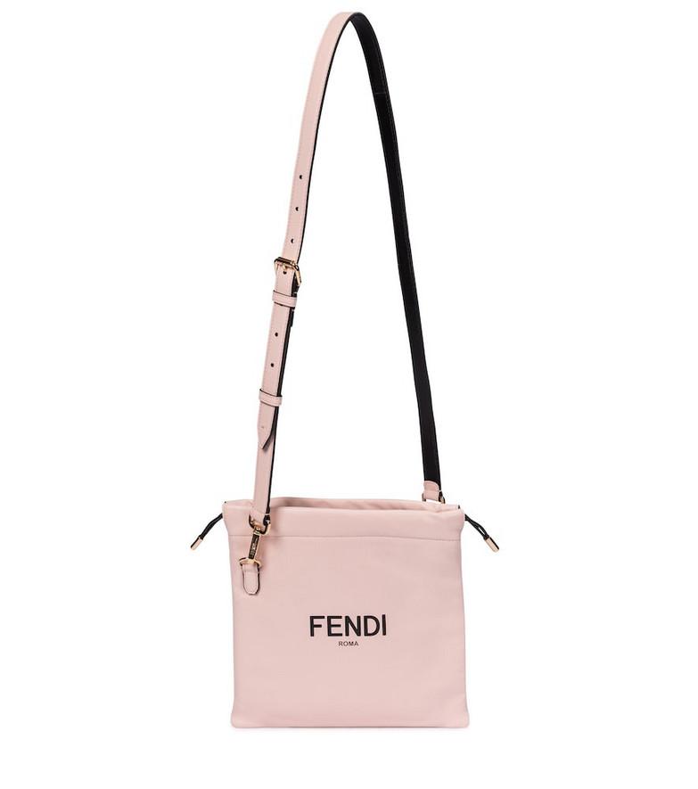Fendi Pack Small leather shoulder bag in pink