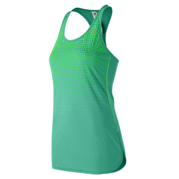 New Balance 53161 Women's Accelerate Tunic Graphic - Green (WT53161REF)