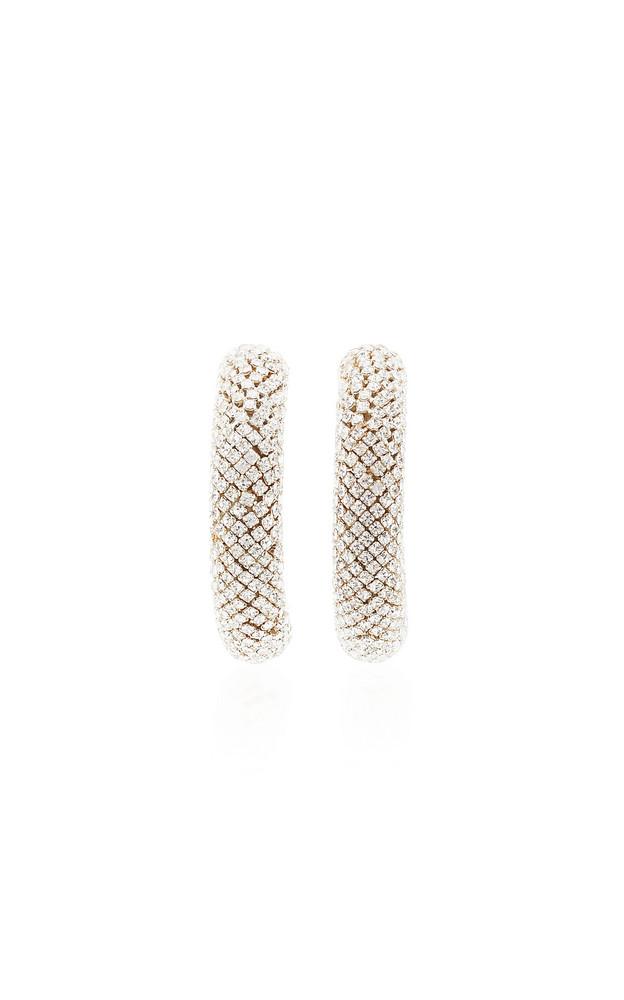 Rebecca de Ravenel Crystal-Embellished Hoop Earrings in gold