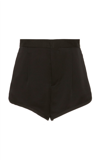 Dundas Satin Mini Short in black