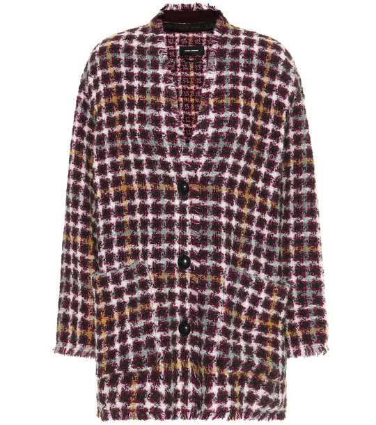 Isabel Marant Diana tweed jacket in red
