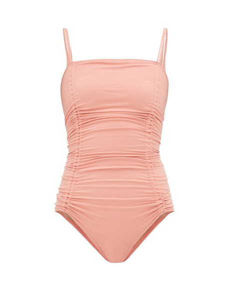 Three Graces London - Helena Ruched Jersey Swimsuit - Womens - Pink