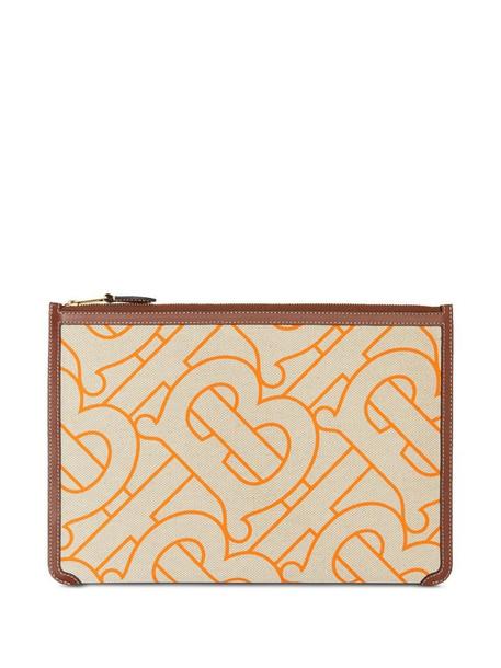 Burberry Monogram-motif zipped pouch in neutrals