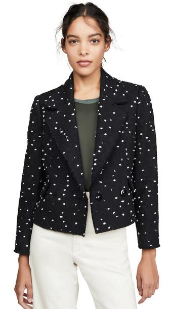 Rebecca Taylor Boucle Tweed Jacket in black