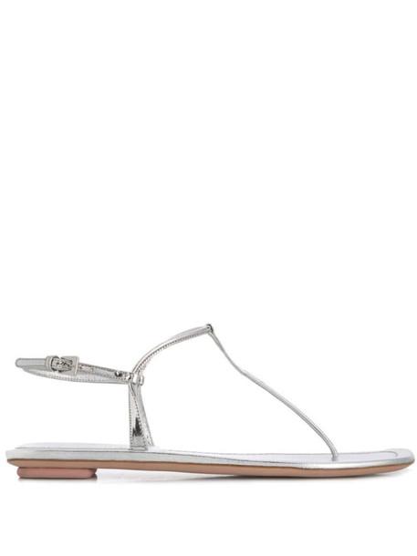 Prada thong sandals in silver