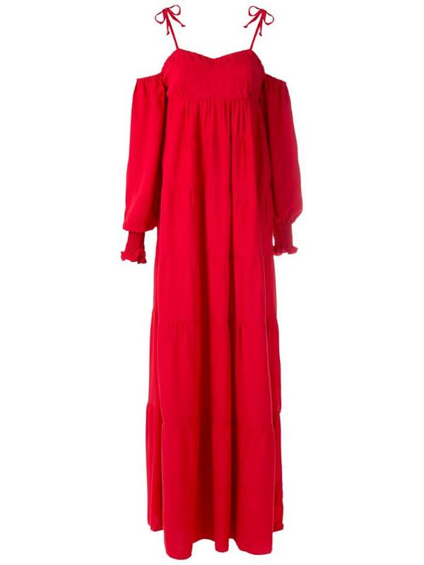 ESC Shiva long dress in red