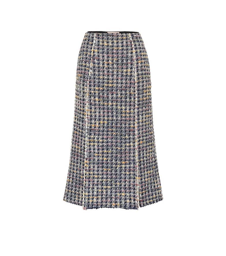 Brock Collection Pietraluna wool-blend skirt in blue