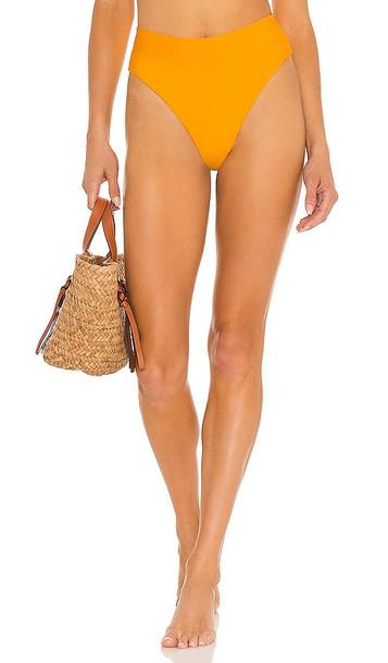 B. Swim Cove Hi-Waist Bikini Bottom in Yellow
