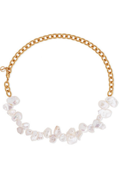 Anissa Kermiche - Two Faced Shelley Gold-plated Pearl Necklace