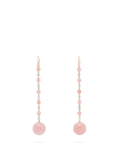 Irene Neuwirth - Diamond, Opal & 18kt Rose Gold Earrings - Womens - Pink
