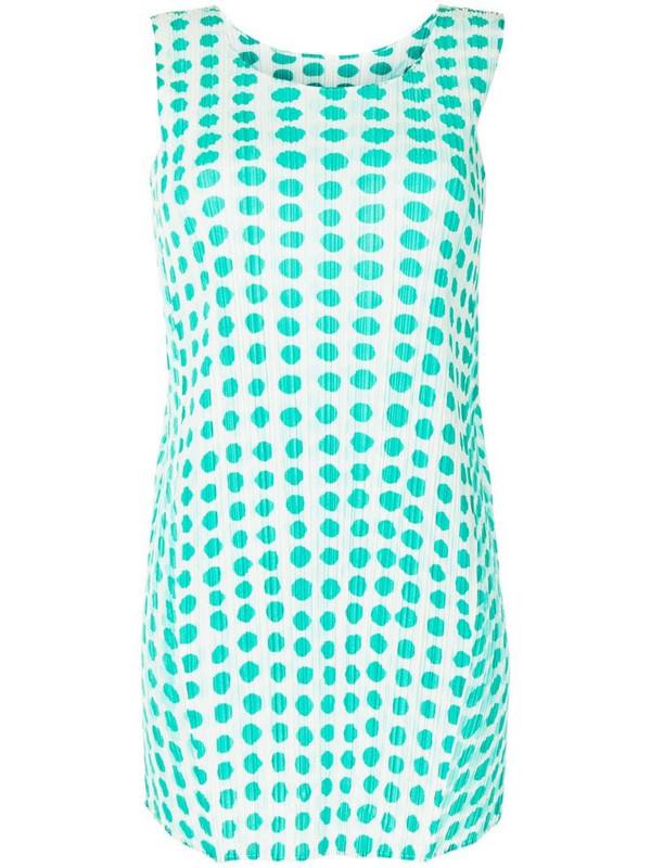 Issey Miyake Pre-Owned polka dot sleeveless blouse in green