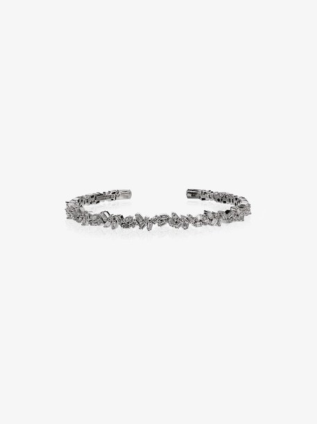 Suzanne Kalan 18K white gold and diamond shard bracelet
