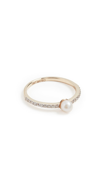 Mateo 14k Pearl Dot Ring in gold / yellow
