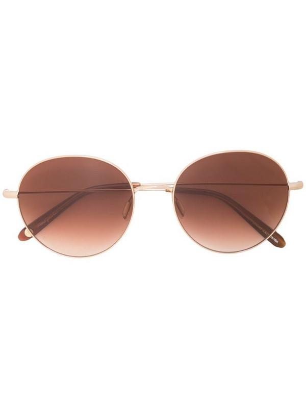 Garrett Leight Valencia round frame sunglasses in brown