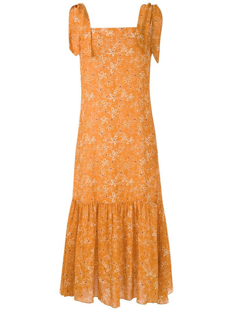 Clube Bossa Dorothea midi dress in orange