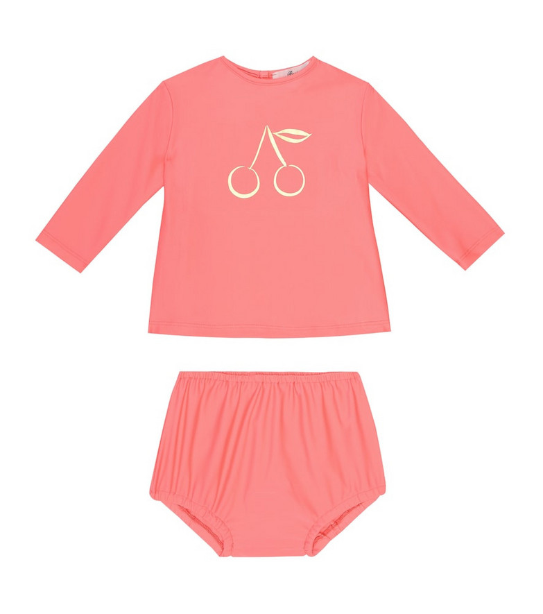 Bonpoint Baby rashguard swimsuit in pink