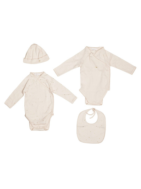 Chloé Chloé Logo Rompers And Cap Set in bianco