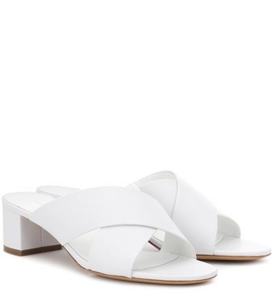 Mansur Gavriel 40mm Crossover leather sandals in white