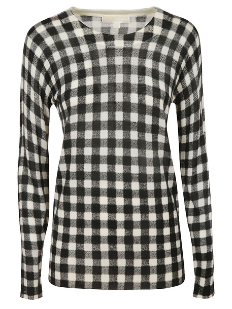 Michael Kors Checked Sweater in black / white