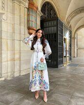 dress,maxi dress,long dress,bag,spring outfits