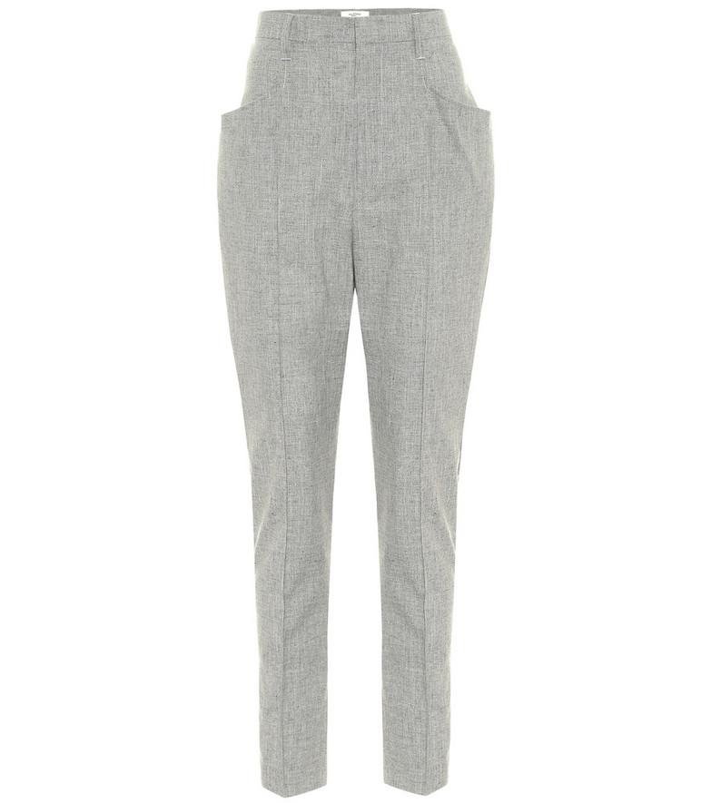 Isabel Marant, Étoile Loreia slim wool-blend pants in grey