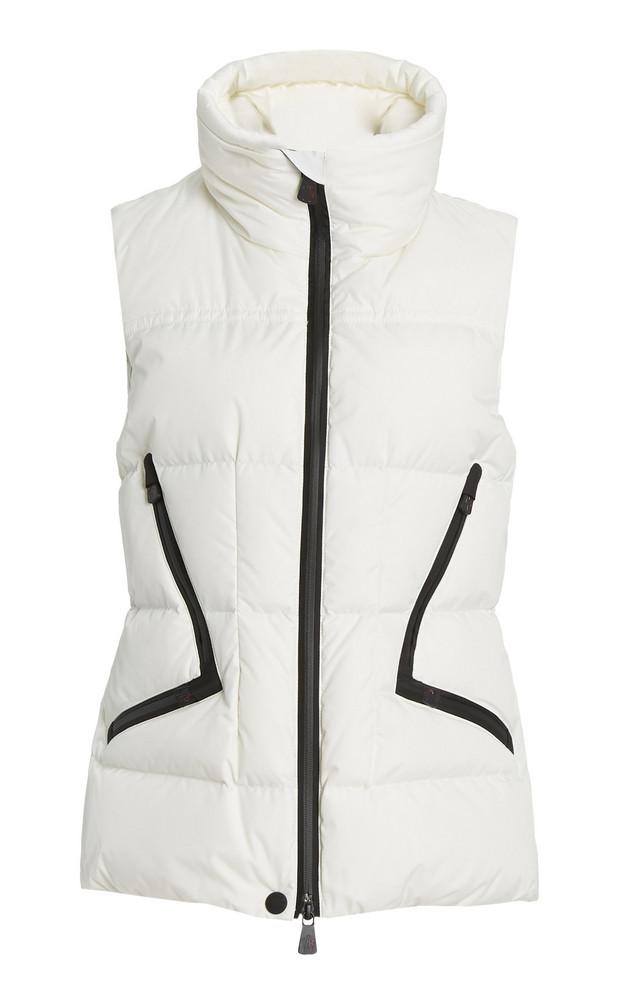 Moncler Grenoble Atka Down Ski Vest in white