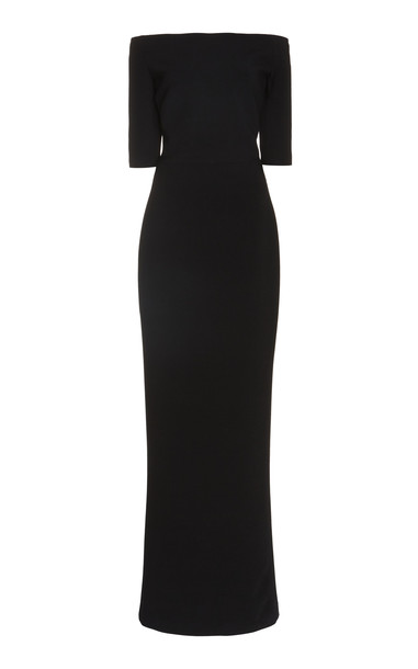 Martin Grant Off Shoulder Gown Size: 34 in black