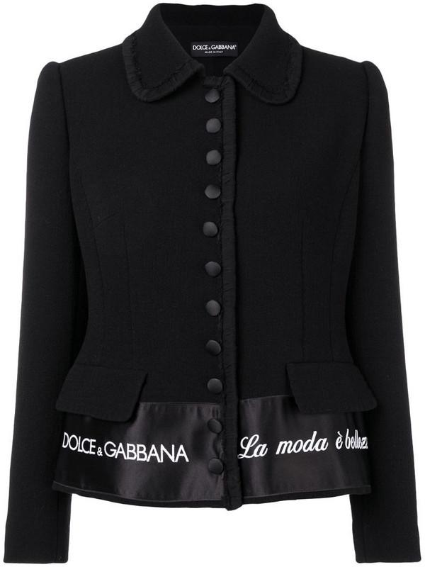 Dolce & Gabbana 'La Moda è Bellezza' blazer in black