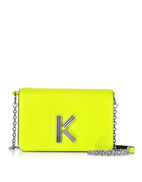 Kenzo Citron Leather K-bag Chainy Bag in yellow