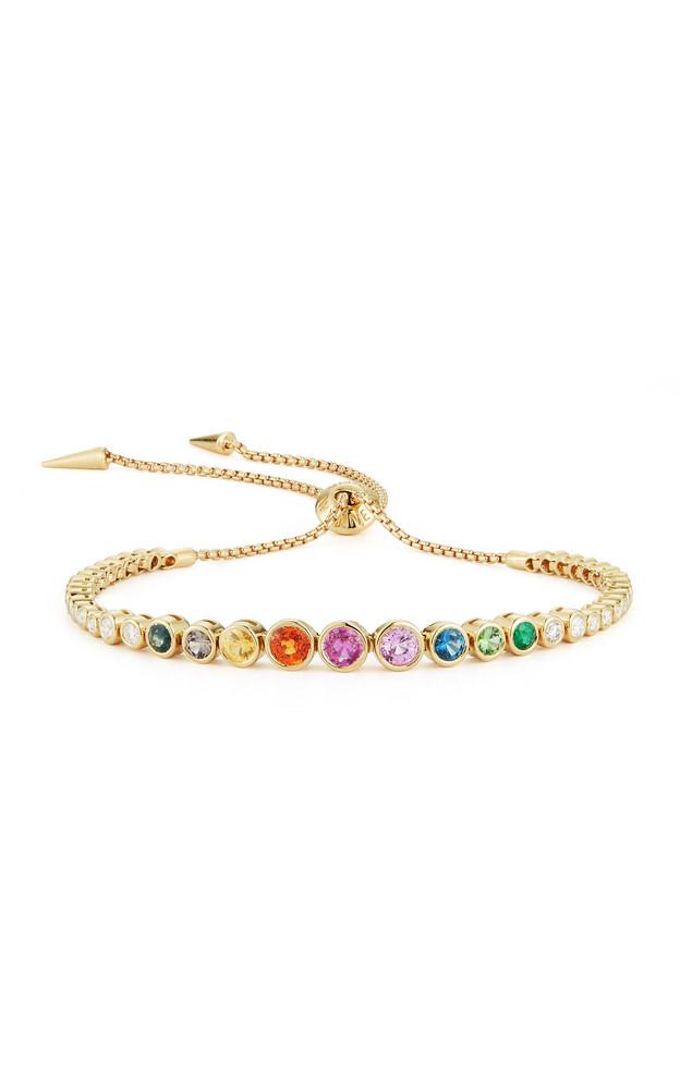 Jemma Wynne 18K Yellow Gold Rainbow Slider Bracelet in multi