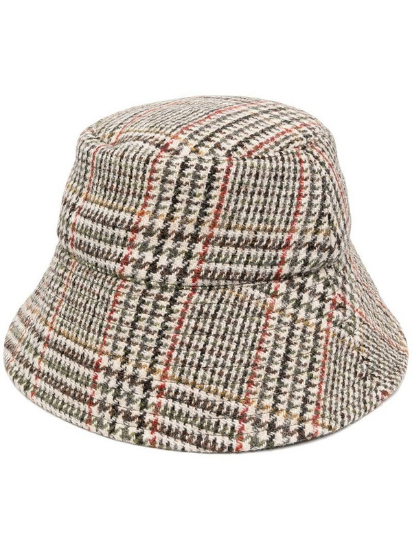 K-WAY R&D checked bucket hat in neutrals