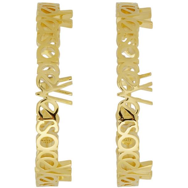 Versace Gold Large Vintage Logo Hoop Earrings